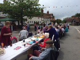 Yattendon street party to celebrate our Queen's 90th Birthday